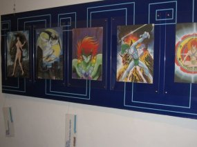 Expo de dessins de Gô Nagai au COMICON de Naples (2007)